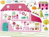 """Image of Pegatinas """"El mundo de Liz"""" para decorar la habitación. Lilliputiens"""