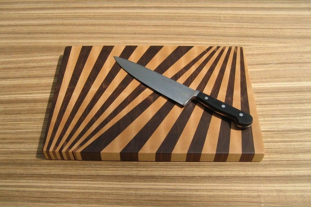 Fan Pattern End Grain Cutting Board
