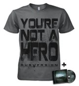 "Image of Charcoal ""Not A Hero"" T-Shirt or CD Bundle"