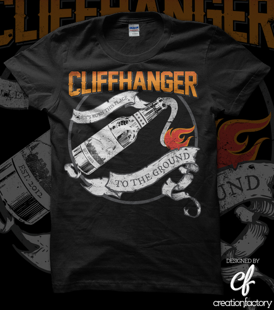 Image of CLIFFHANGER Molotov Tee (LIMITED QUANTITIES AVAILABLE)