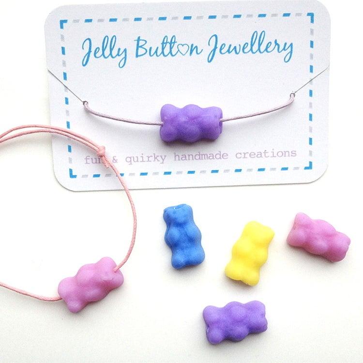 Image of Gummy Bear Cord Bracelet