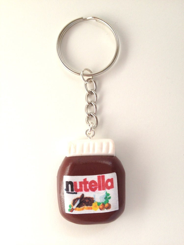 Jelly Button Jewellery Nutella Necklace Keyring
