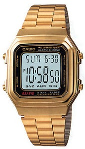 Image of Casio A178WGA-1A Digital Gold Watch