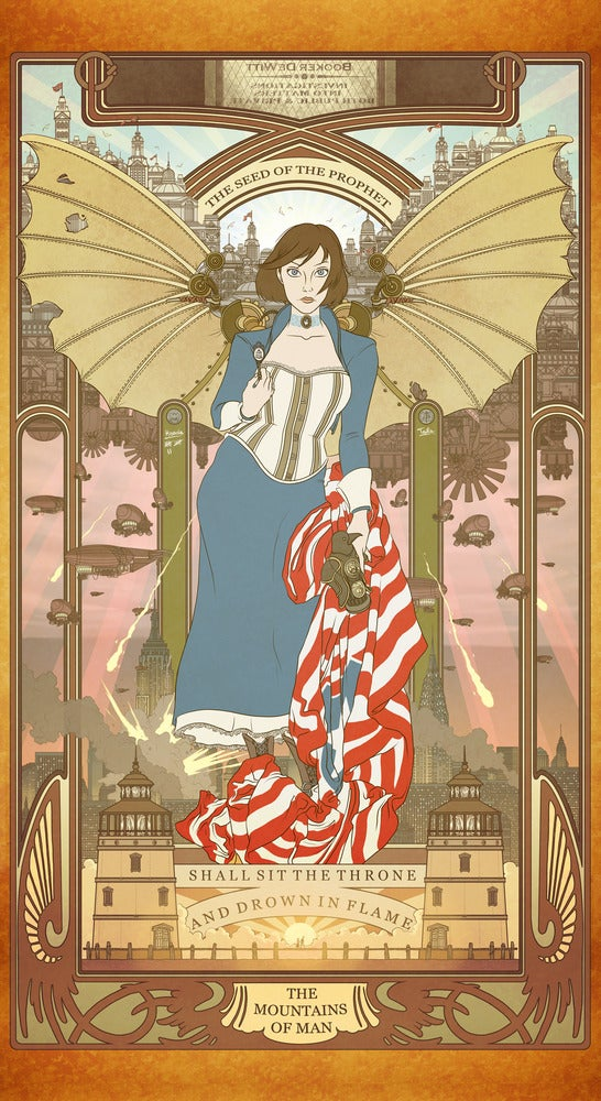 Image of Elizabeth by way of Alphonse Mucha
