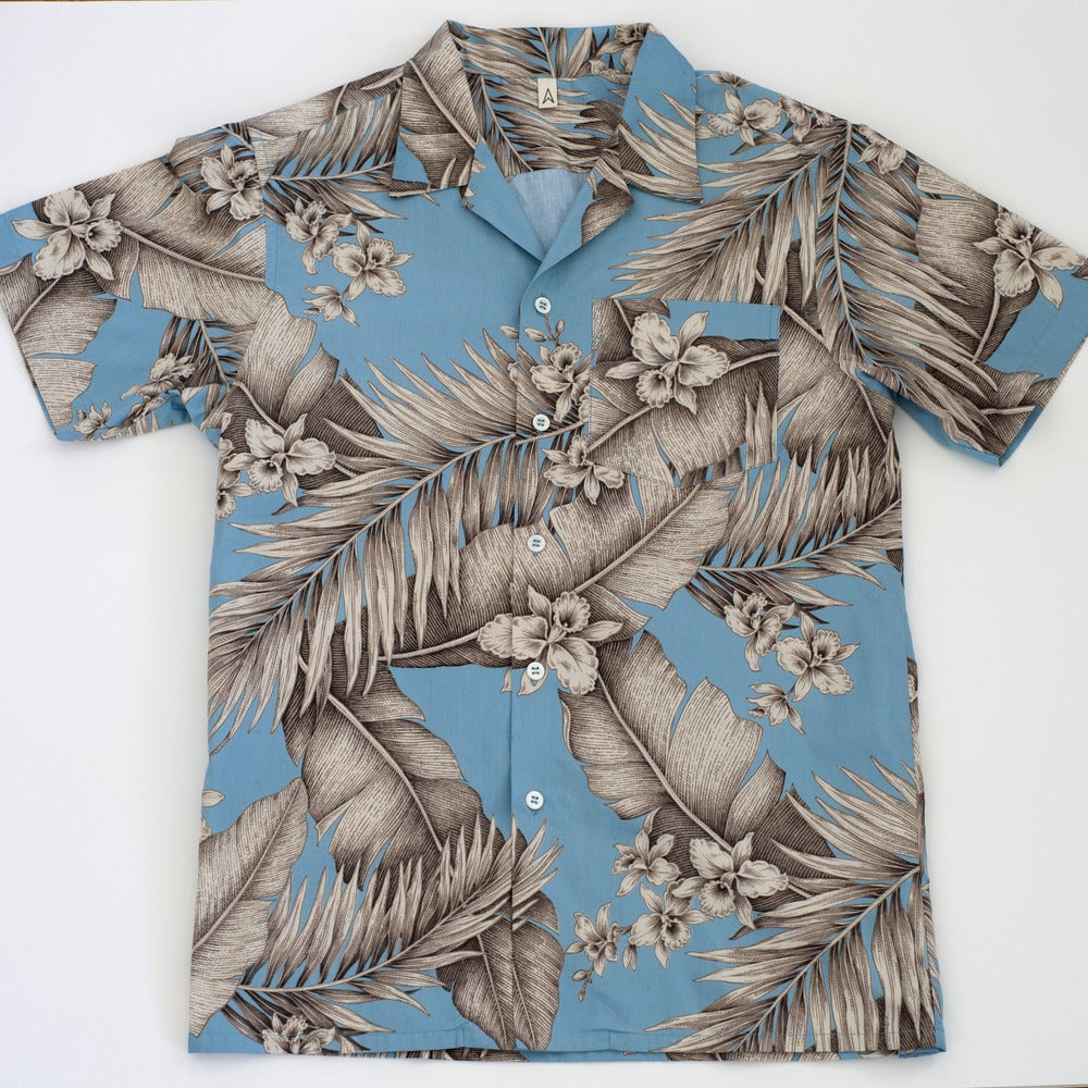 Image of kisses x arrowhead aloha shirt