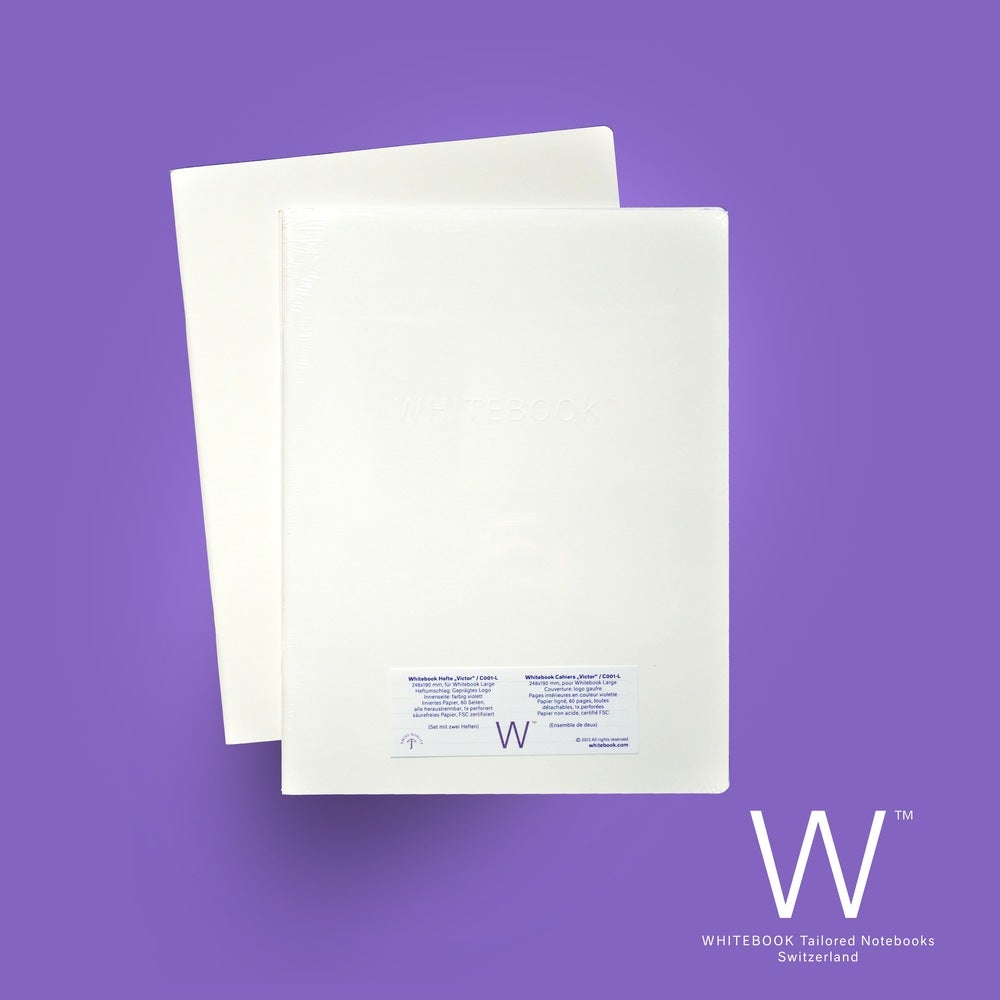 "Image of Whitebook Cahier ""Victor"", refill set of two, ruled/lined paper"