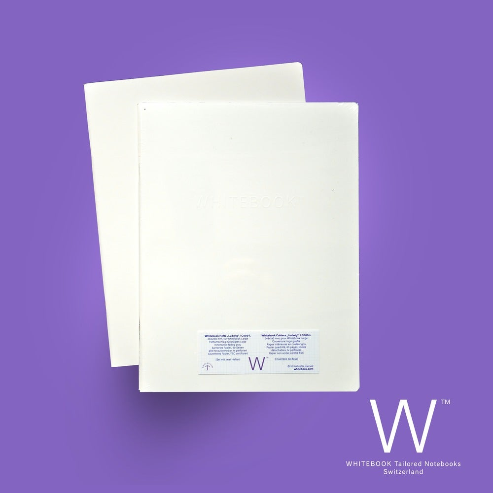 """Image of Whitebook Cahier """"Ludwig"""", refill set of two, squared paper"""