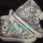 Image of High Top White Sparkle One Side Chucks