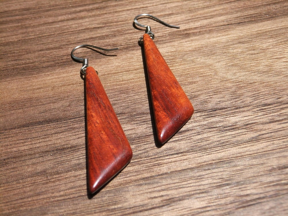 Image of Bloodwood Triangle Earrings