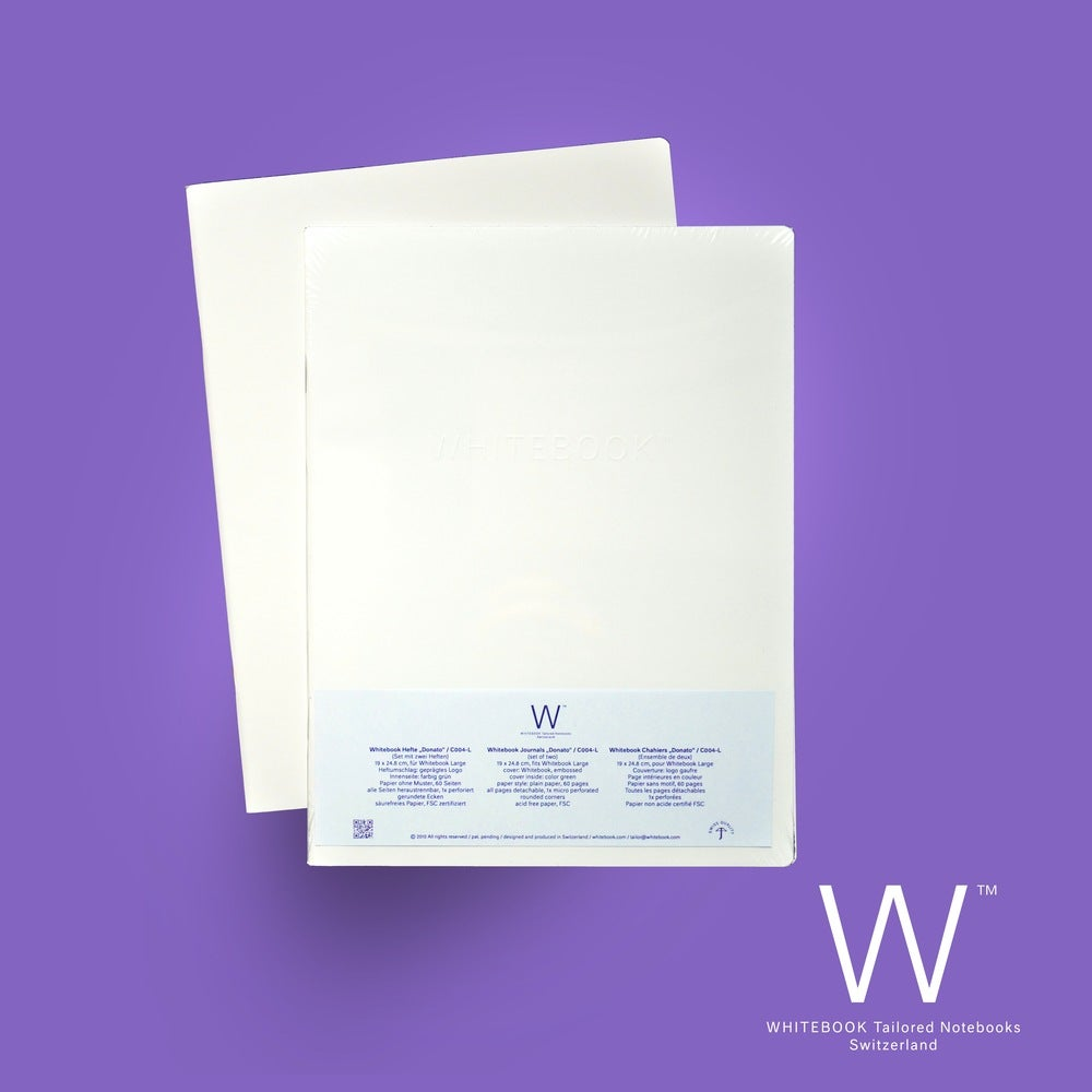 """Image of Whitebook Cahier """"Donato"""", refill set of two, plain paper"""