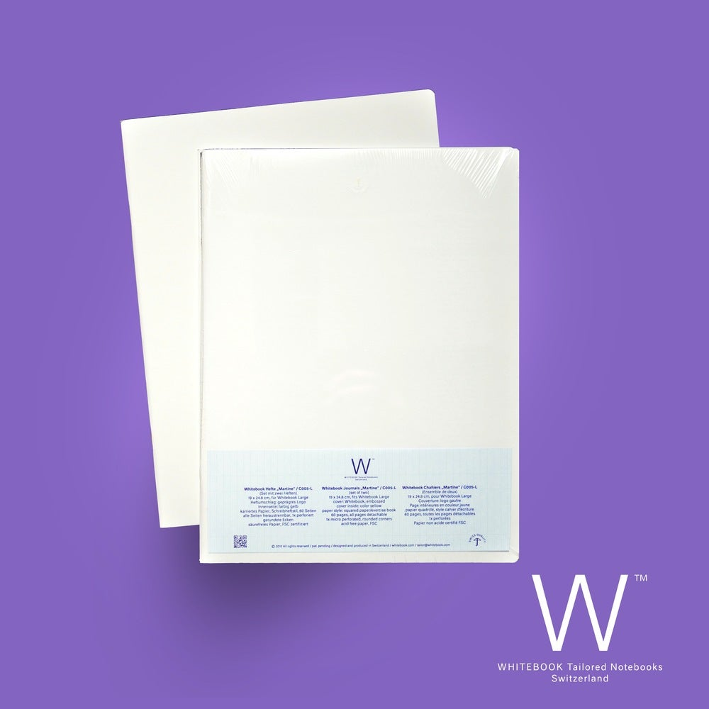 """Image of Whitebook Cahier """"Martine"""", refill set of two, squared paper/exercise book"""
