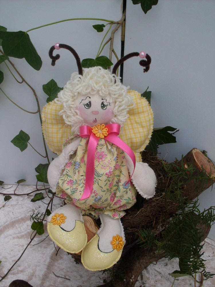 Image of Batterfly Doll Country style Yellow