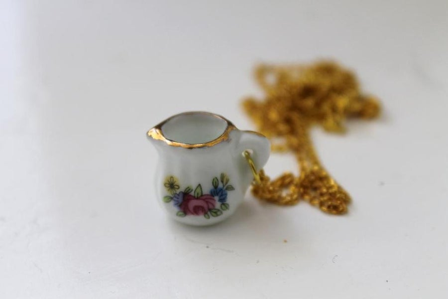 Image of Mini Floral Pitcher Necklace (Originally $20)