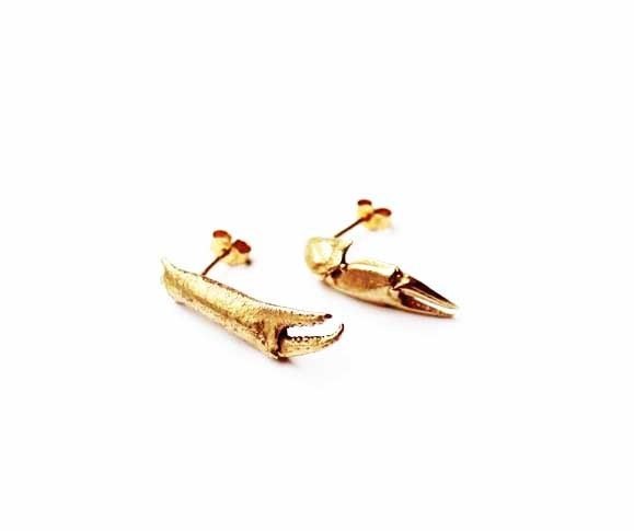 Image of Crab Pincer Earrings