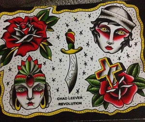 Image of Tattoo Flash Print