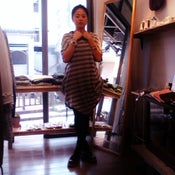 Image of Cotton Stripe Dress / 棉質不規則橫間長衫 Code : 130