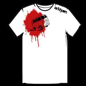 Image of Arkham Van T-Shirt - White/Red