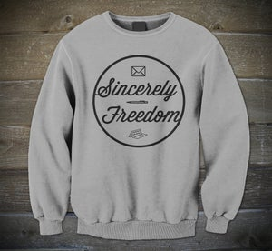 Image of Sincerely Freedom Crewneck Grey