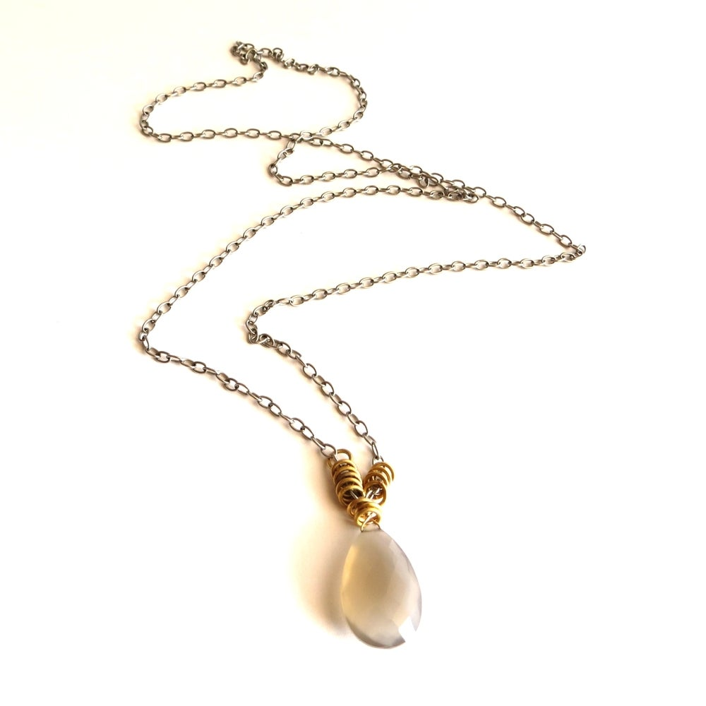 Image of Uahi - Long fawn chalcedony necklace