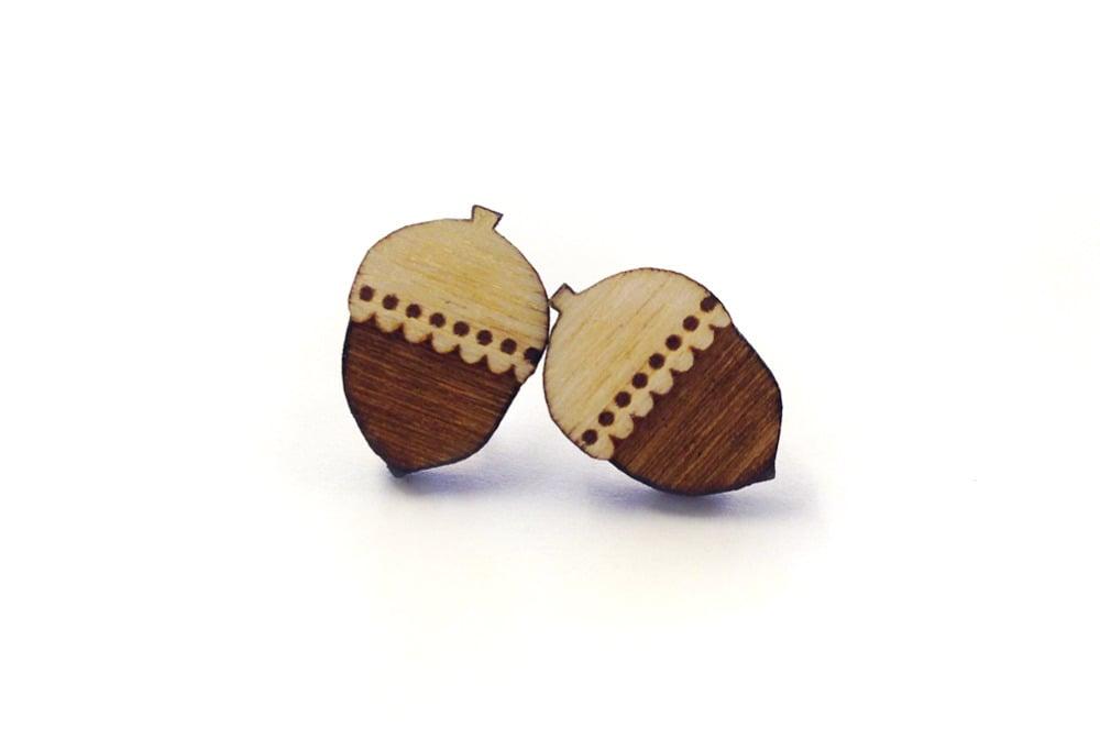Image of Woodland Acorn Earrings