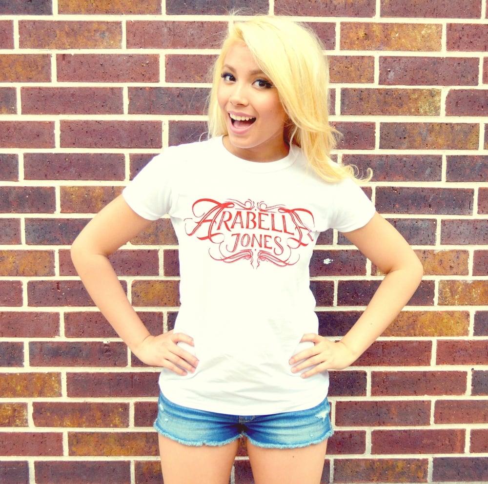 Image of ARABELLA JONES White Crewneck Slim Fit T-Shirt