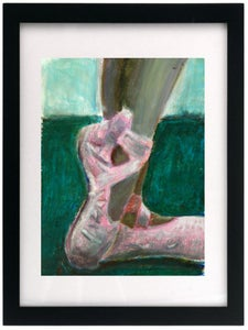 "Image of Maya's Slipper- 9""x12"" Original Oil Pastel"