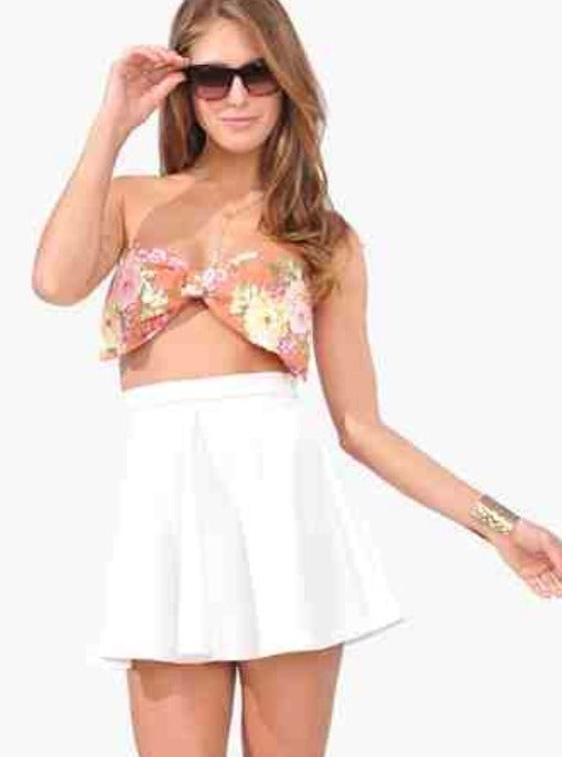 Image of Hawaiin bandeau bow top