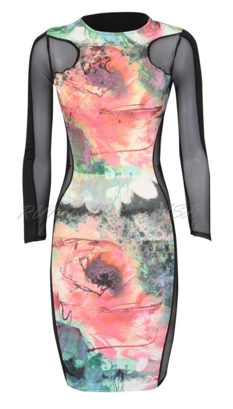Image of Sheer Tye Dye Dress