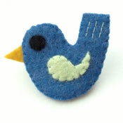 Image of Felt Bird Badges - Coloured Wings