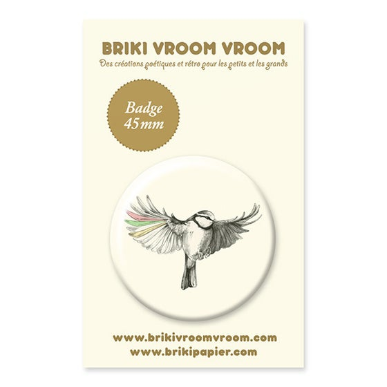 Image of Badge oiseau en vol