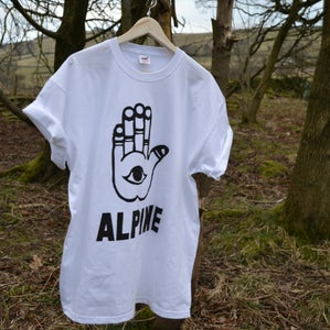 Image of ALPINE CHAMSA TSHIRT - WHITE
