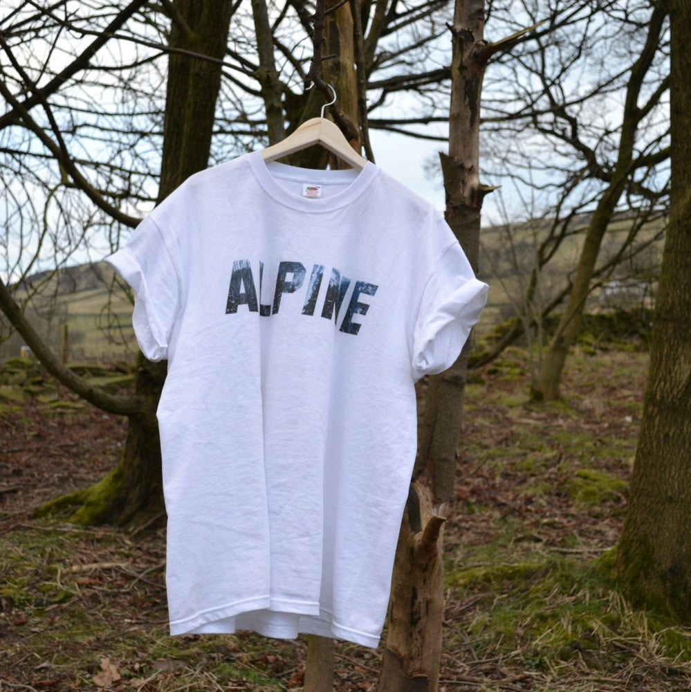 Image of ALPINE MOUNTAIN TSHIRT - WHITE