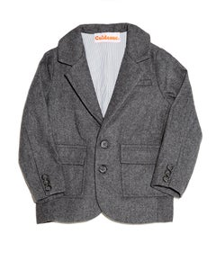 Image of Basic Medium Grey Suit Jacket