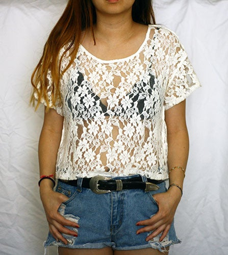 Image of Lace Crop Top