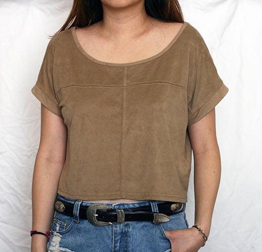 Image of Tan Crop Top