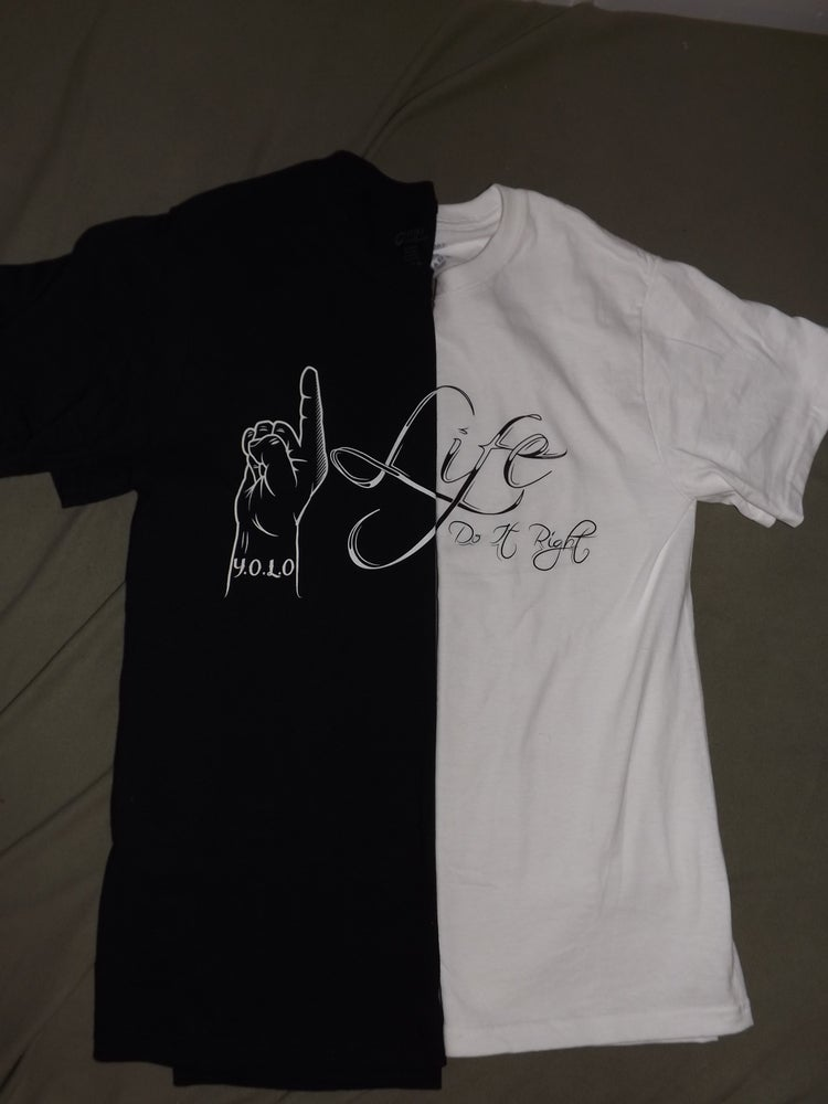 Image of 1life shirt in black or white