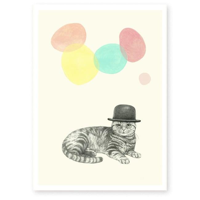 Image of Affiche A4 Chat magicien