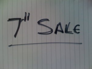 "Image of Sale And Used 7"" As Priced!!"