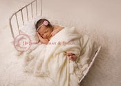 Image of Newborn Photo Prop Bed Shabby Chic Style