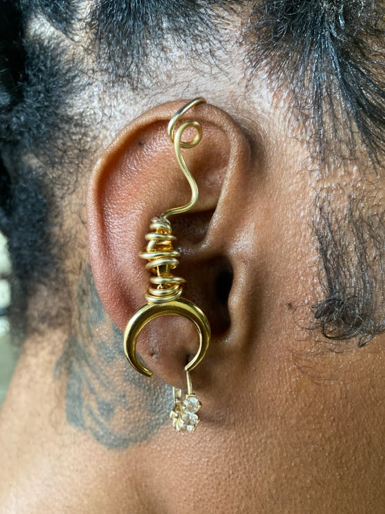 Image of Crescent moon ear cuff