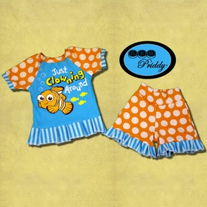 Image of **SOLD OUT** Finding Nemo Clowning Around Short Set - Size 2/3