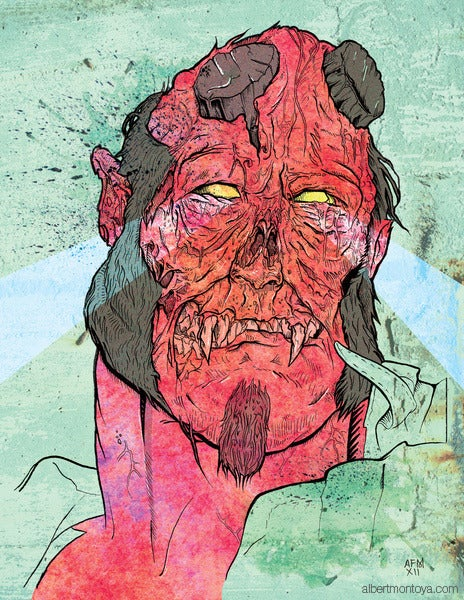 "Image of Print ""Zombie Hellboy"""