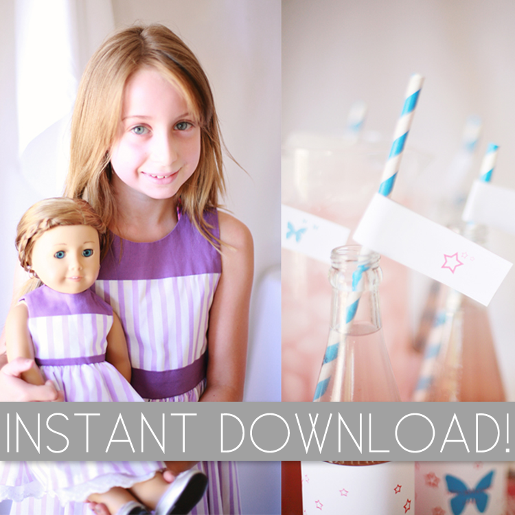 Image of American Girl Inspired Party Printables
