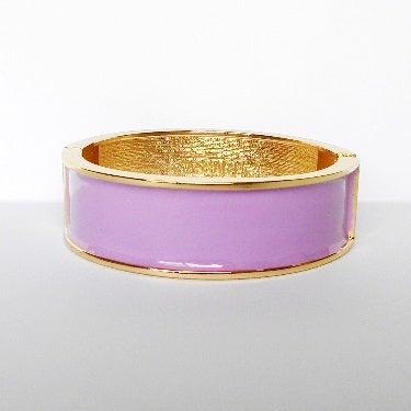 Image of Wide Enamel Bangle African Violet