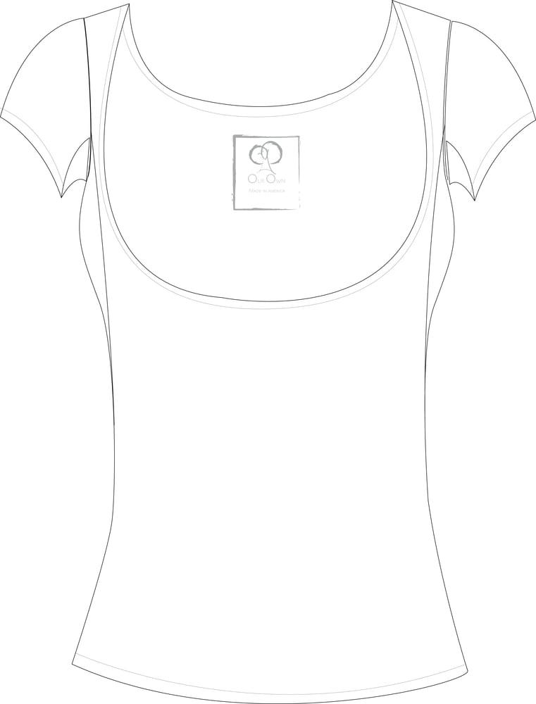 Image of Below the Bra White Cap Sleeve