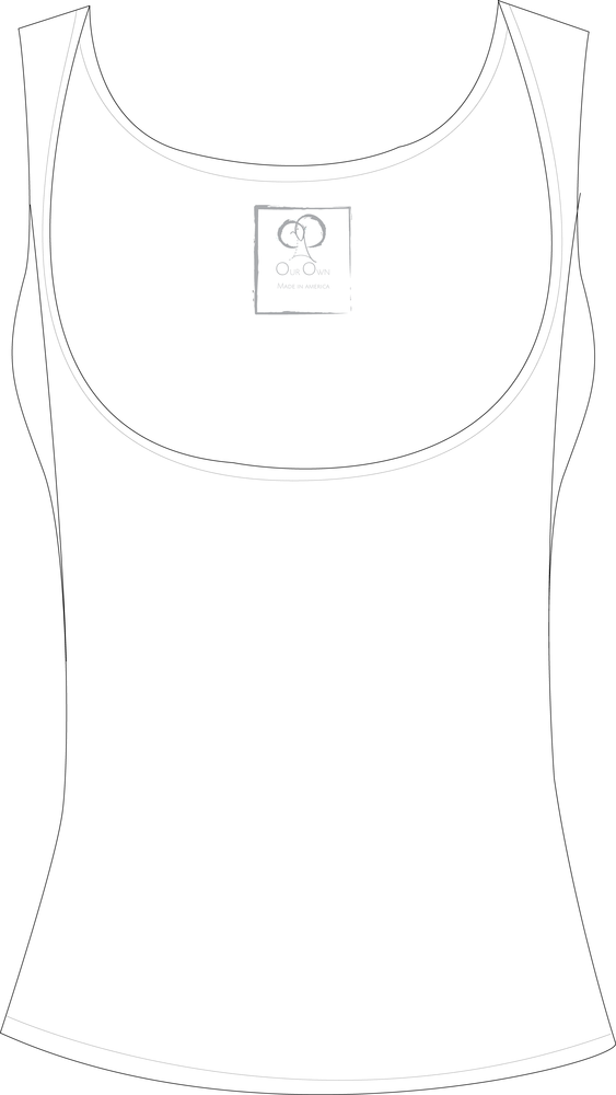 Image of Below the Bra White Tank