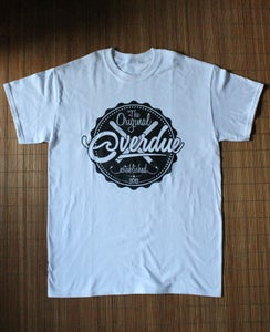 Image of Overdue - Beer Cap T-Shirt (White)