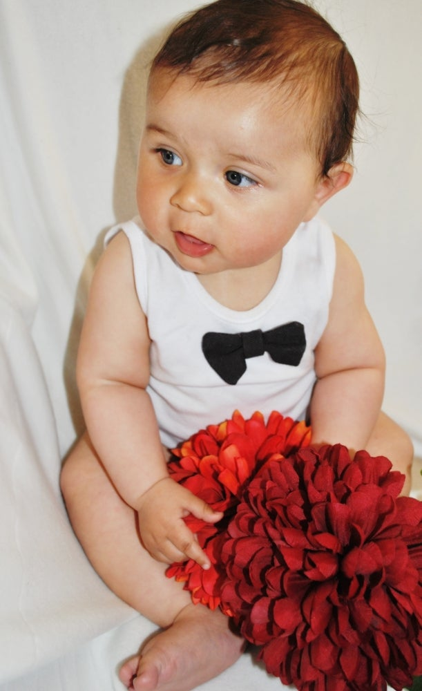 Image of Diddie Bow Tees Baby - Charcoal Maxi