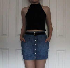 Image of H&M denim skirt size 8