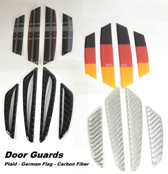 Image of Side Door Resin Coated door protectors Plaid/Carbon Fiber/German Flag